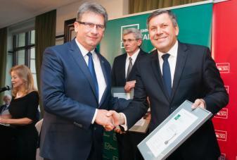 Wicepremier RP Janusz Piechociński oraz Burmistrz Susza Krzysztof Pietrzykowski